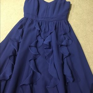 RUFFLED GOWN